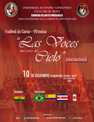 Festival virtual de coros se realiza esta noche