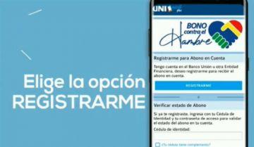 """Estos son los pasos para el registro en """"UNImóvil Plus"""" para el cobro del Bono Contra el Hambre"""