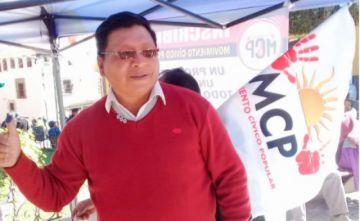 Excívico Jhonny Llally fue proclamado como candidato a alcalde de Potosí