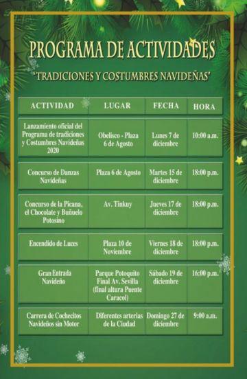 Mañana se realiza el concurso de danzas navideñas de la Alcaldía