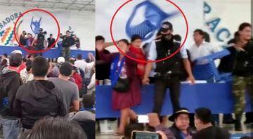 Cocaleros identifican a quien lanzó la silla a Evo Morales y anuncian un proceso penal