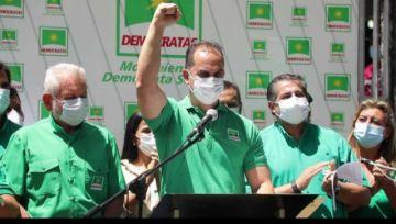 Rubén Costas proclama a Roly Aguilera como candidato a alcalde de Santa Cruz