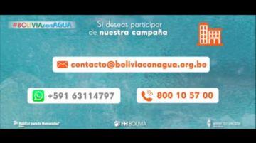 La Campaña #BoliviaconAgua busca brindar acceso a agua segura a las familias más vulnerables de Bolivia