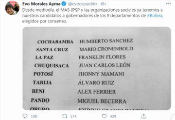 Evo Morales ignoró las protestas e inscribió a sus candidatos