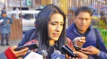 Wilma Alanoca aparece como candidata a primera concejala por el MAS en El Alto