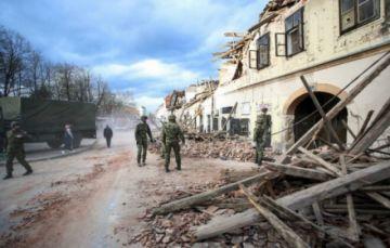Reportan nuevos temblores en Croacia al día siguiente de un mortífero sismo