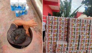 Encuentran cerveza de contrabando escondida en cisterna