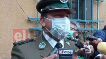 Policía en Potosí hace seguimiento a pacientes sospechosos y positivos para coronavirus