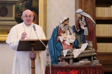 """""""Les envío mis mejores deseos de paz y serenidad para el nuevo año"""", es el mensaje del Papa Francisco"""