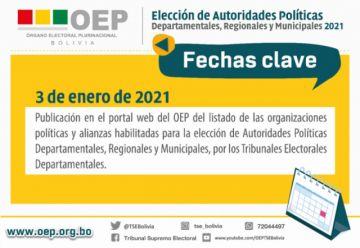 OEP difunde hoy los planes de gobierno y listado de partidos habilitados para elecciones