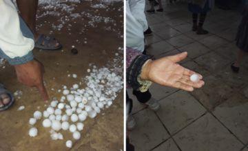VIDEO Granizos del tamaño de los huevos de gallina cayeron sobre Quivincha