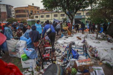 Presidente Arce expresa condolencias a familiares de fallecidos por lluvia y granizo en Sucre