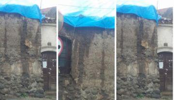 Advierten que las lluvias dañarán más la casa de Armando Alba