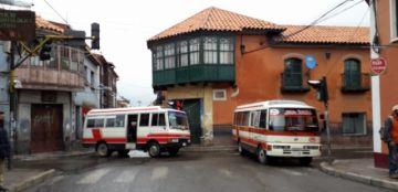 El centro de la ciudad está paralizado por el paro del transporte en Potosí