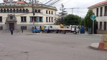 Así está Potosí la primera jornada de paro movilizado del transporte