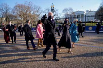 El nuevo presidente Biden llega la Casa Blanca en un Washington blindado