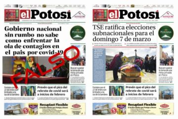 Alteran la foto de la portada de El Potosí de este 22 de enero