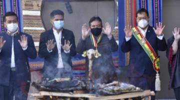 Arce y Choquehuanca encabezan actos de celebración por el Día del Estado Plurinacional