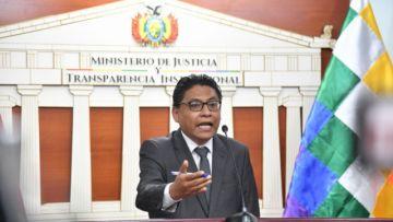 Ministro de Justicia dice que proyecto de Ley de Emergencia Sanitaria respeta la CPE