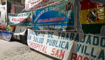 Villazón mantiene medidas de presión en demanda de ítems y mejor atención en salud