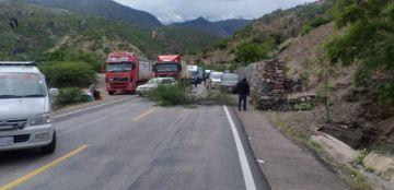 Tránsito confirma bloqueo en la ruta Potosí Sucre