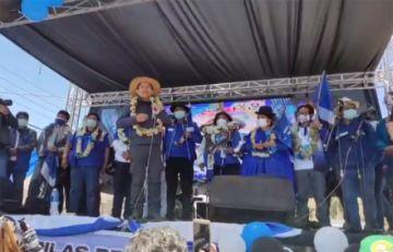 Choquehuanca asegura triunfo del MAS en La Paz y aprueba organizar una fiesta de tres días