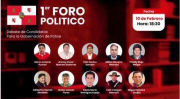 Vea el foro político de candidatos a la Gobernación de Potosí rumbo a las elecciones