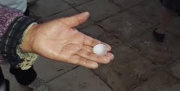 Reportan tormenta de grandes granizos en Tupiza