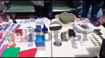 Policía aprehende a presuntos atracadores y comercializadores de droga