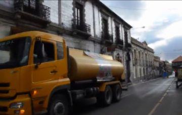 La Alcaldía desinfectará las calles este domingo de encapsulamiento