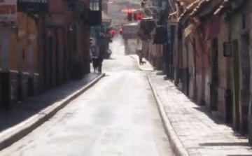 La Alcaldía desinfecta la ciudad en jornada de encapsulamiento