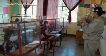 Tupiza: Una maestra manda a construir cubículos contra el covid con su propio dinero
