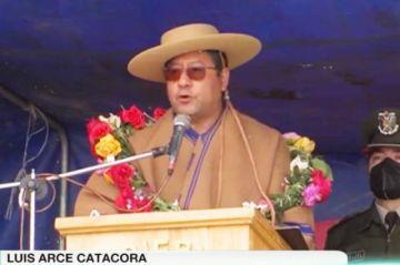 Chuquisaca: Arce vuelve a pedir votos para candidatos con los que pueda hacer obras