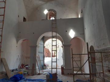 Verifican que trabajos de restauración en el templo de Salinas de Yocalla están en la fase final
