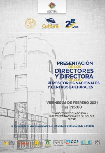 Se desarrolla el acto de Presentación de los titulares de los Repositorios Nacionales  de la Fundación Cultural BCB