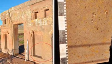 Turistas bolivianos dañaron piezas arqueológicas de Tiwanaku con líquido aceitoso