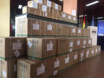 Ya está en Bolivia un nuevo lote de medicamentos para combatir el COVID-19