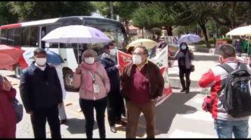Los médicos en Potosí están nuevamente en las calles en rechazo a la ley de emergencia sanitaria