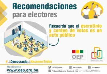 Apuntes sobre el cómputo oficial de las elecciones en el país
