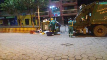 Emap realizó la limpieza de la ciudad por la madrugada