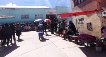 En zonas alejadas del centro de Potosí se vota sin medidas de bioseguridad