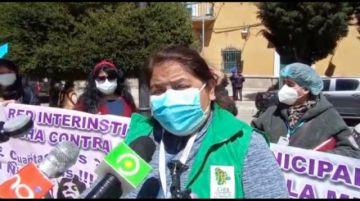 Mujeres en Potosí marchan por una vida sin violencia