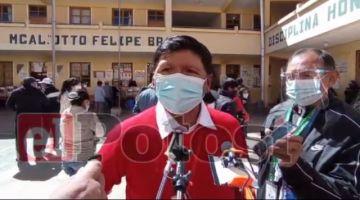 Jhonny Llally celebra resultados de boca de urna que le otorgan la victoria en Potosí