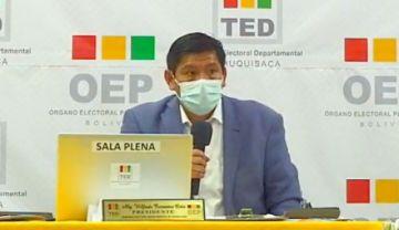 TED Chuquisaca decide 'anulación parcial' de tres actas de Sucre y prolonga incertidumbre