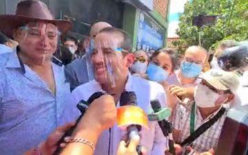 Camacho dice que agradeció al coronel de Polícia Rivas el apoyo al movimiento cívico