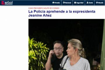 La Policía aprehende a la expresidenta Jeanine Añez