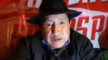 "Rafael Quispe denuncia ""indicios de fraude"" e inicia una huelga de hambre"