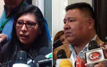 Ministro de Justicia descarta acusar penalmente a Eva Copa y Sergio Choque