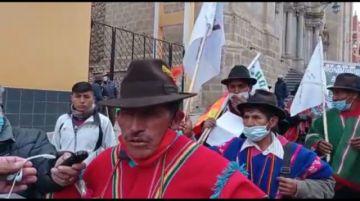 Comunarios del ayllu de Chaqui protestan tras resultado electoral