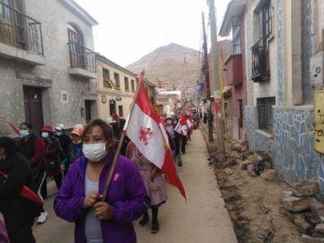 Potosí: la marcha por la libertad y la democracia recorre las calles